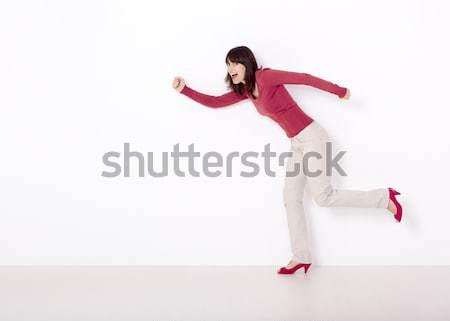 Woman in hurry Stock photo © iko