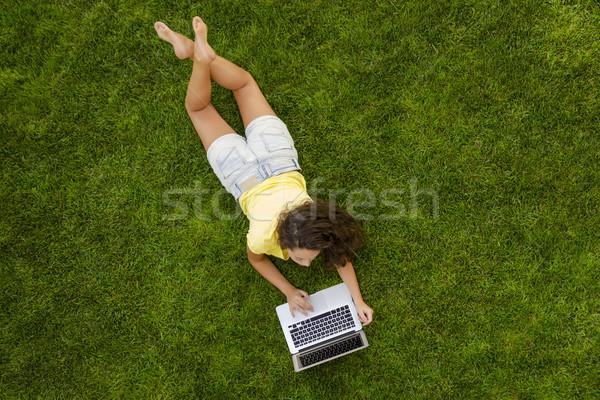 Working and enjoy nature Stock photo © iko