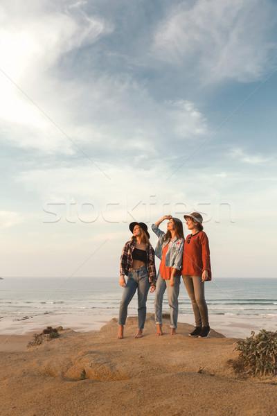 Girls on the beach Stock photo © iko