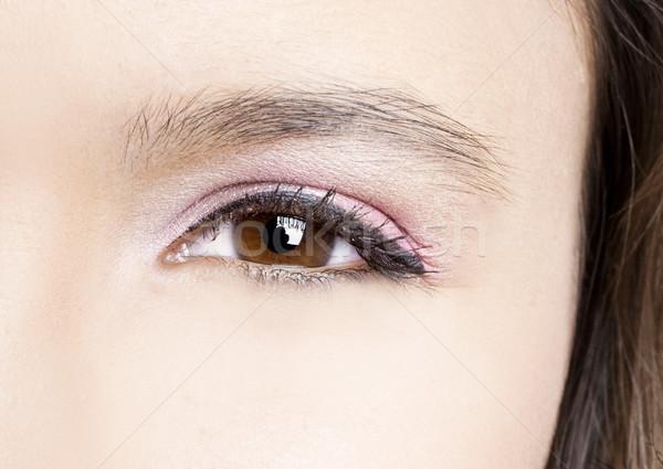 Göz makyajı güzel kadın kadın göz Stok fotoğraf © iko
