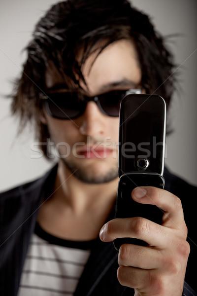 Goed kijken jonge man zonnebril foto Stockfoto © iko