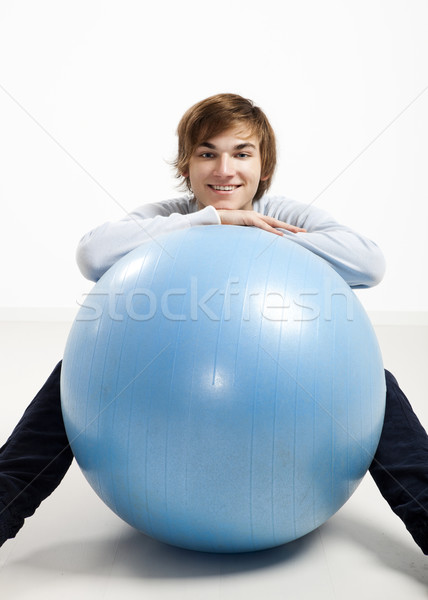 Genç pilates top adam mutlu Stok fotoğraf © iko
