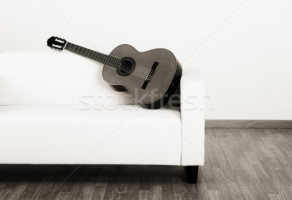 Solitude guitar Stock photo © iko