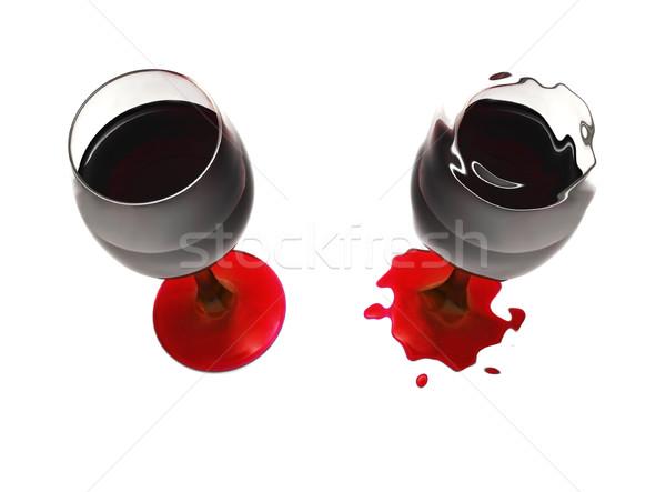 Beker wijn misvormd water licht home Stockfoto © iko