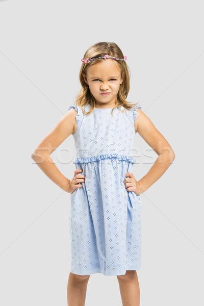 Stock fotó: Huncut · hercegnő · portré · aranyos · kislány · korona