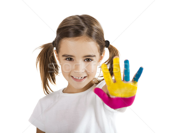 Hands painted Stock photo © iko