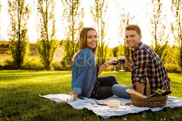 Making a summer picnic Stock photo © iko