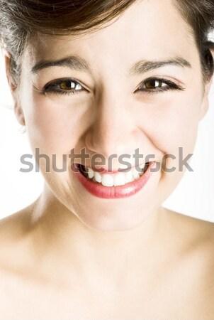 смех портрет счастливым красивой смеясь Сток-фото © iko