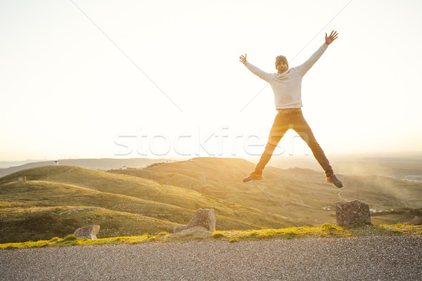 Man jumping Stock photo © iko