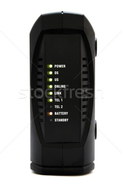 Cabo modem internet voz um equipamento Foto stock © iko