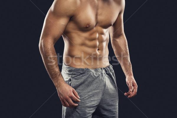 Muscular man Stock photo © iko