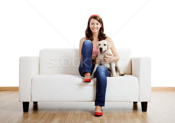 Fille meilleur ami jeunes belle femme maison cute Photo stock © iko