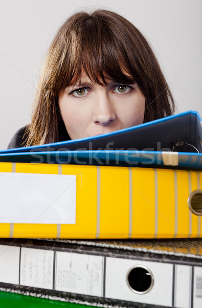 Exhausted business woman Stock photo © iko