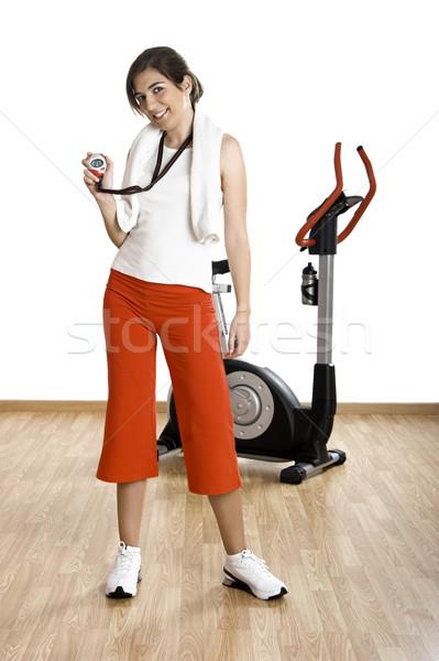 Сток-фото: Личный · тренер · красивой · женщины · спортзал · инструктор · осуществлять