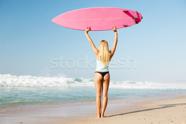 Stock photo: Blode surfer Girl
