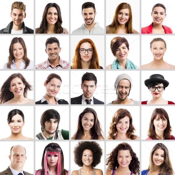 Collage multiple portraits différent personnes affaires Photo stock © iko