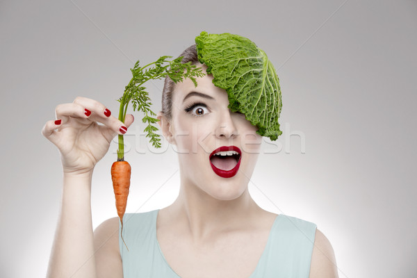 Vegan Girl Stock photo © iko