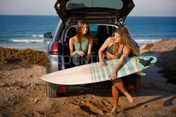 Foto stock: Surfar · amizade · pronto · outro · dia · dois