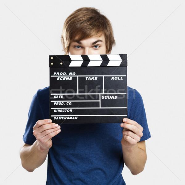 портрет молодым человеком за улыбка человека Сток-фото © iko