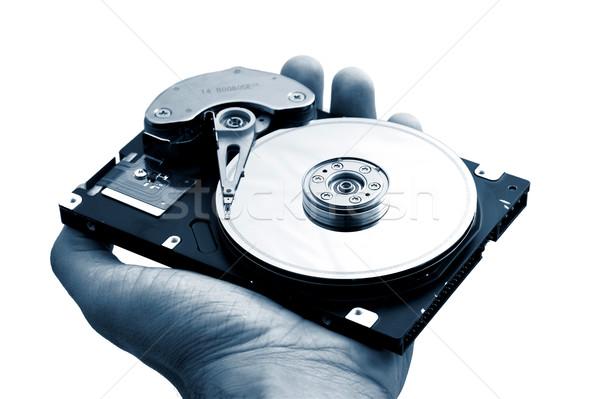 Computer drive hand Open server Stockfoto © iko