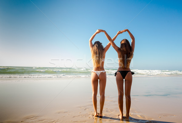 Stock photo: We love beach