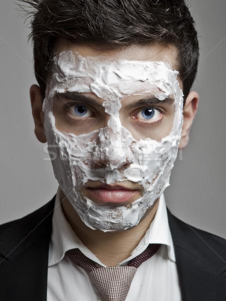 Unshaved Businessman Stock photo © iko