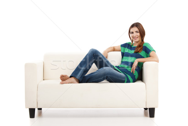 Woman at the sofa Stock photo © iko