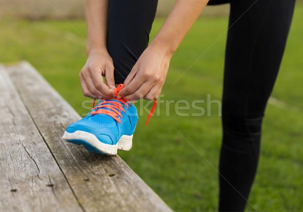 Kész vonat nő cipők nők sport Stock fotó © iko