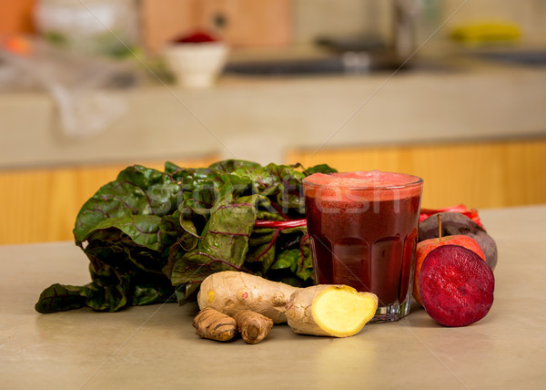 Detoxikáló étel üveg bögre piros dzsúz Stock fotó © iko