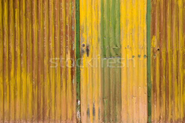 Abstrato velho portão textura verde Foto stock © iko