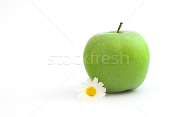 Stock foto: Apfel · Blumen · Essen · Natur · grünen · Leben