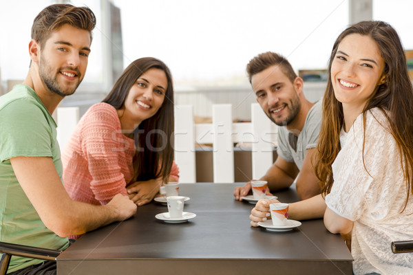 Friends at the local coffee shop Stock photo © iko