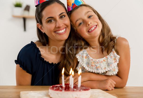 Birthday party with my mom Stock photo © iko