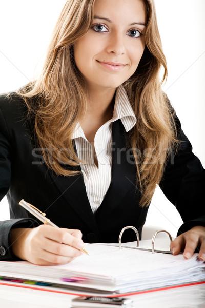 ビジネス女性 肖像 美しい オフィス 女性 笑顔 ストックフォト © iko