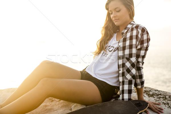 Skater Girl Stock photo © iko