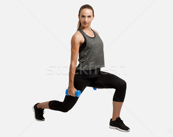Stock photo: Beautiful fitness woman