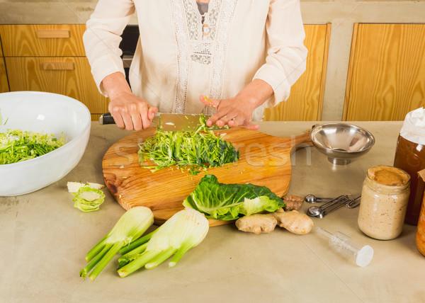 кислая капуста консервированный овощей капуста кислый стекла Сток-фото © iko