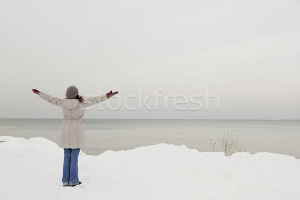 Enjoying the winter Stock photo © iko