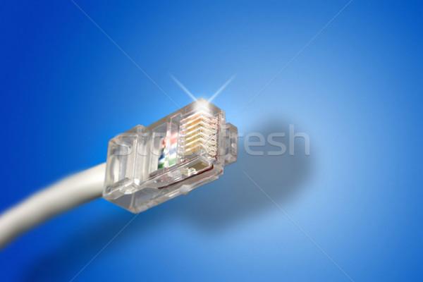 Ethernet kabel niebieski technologii komunikacji szybko Zdjęcia stock © iko