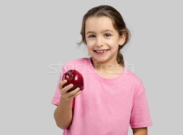 Egészséges lány stúdió portré gyönyörű kislány Stock fotó © iko
