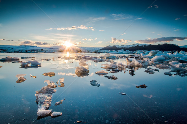Jokulsarlon Glaciar Lagoon Stock photo © iko