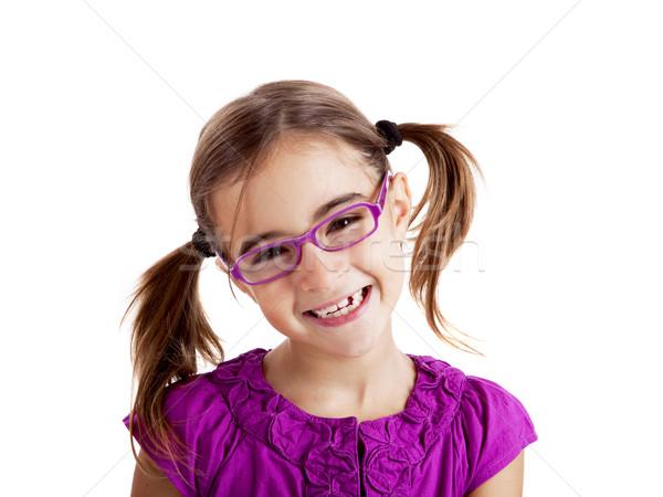 Girl with glasses Stock photo © iko