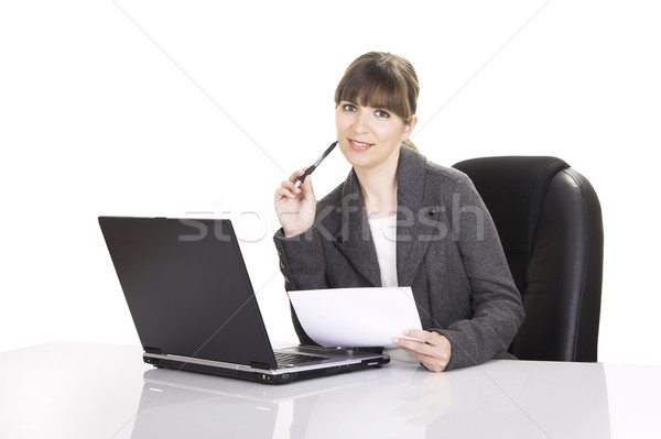 Bussiness woman working Stock photo © iko