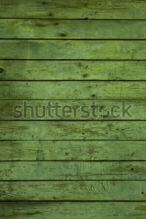 Photos vieux vert bois construction Photo stock © iko