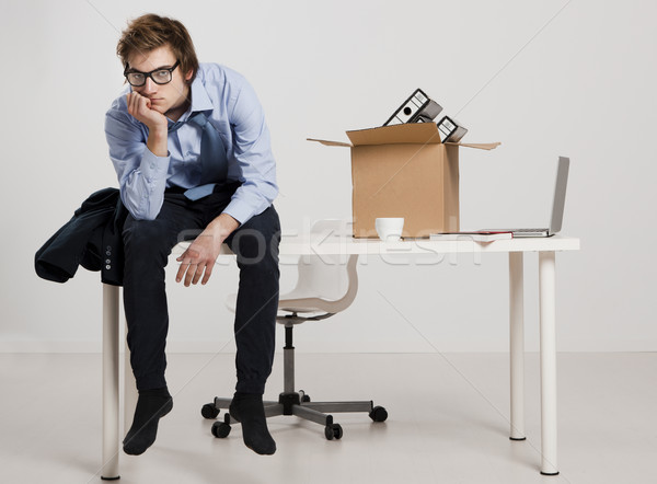 Stockfoto: Jonge · man · vergadering · bureau · business · man · werk