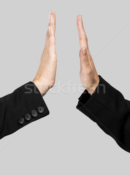 Dać mnie pięć ręce komplement Zdjęcia stock © iko