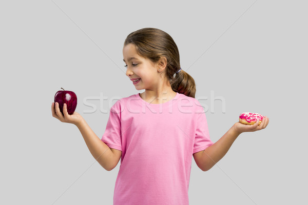 Donut or Apple Stock photo © iko