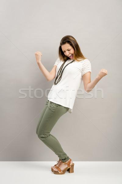 幸せ 女性 美しい 小さな 腕 アップ ストックフォト © iko