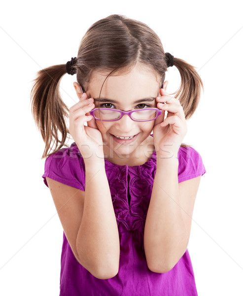 Girl with glasses Stock photo © iko
