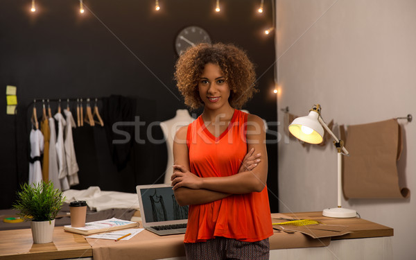 Moda disenador retrato jóvenes de trabajo negocios Foto stock © iko